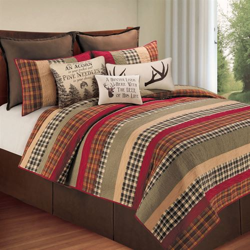 Hillside Haven Rustic Plaid Quilt Bedding
