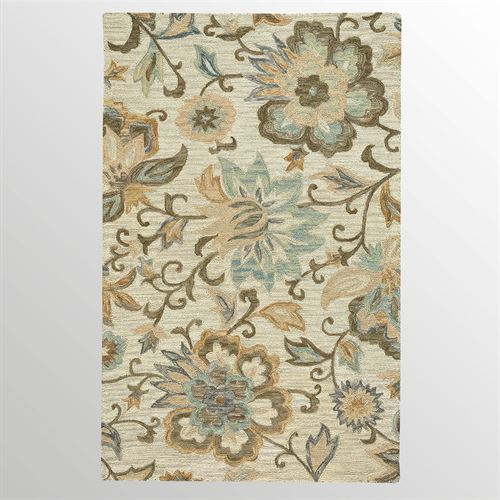 Celia Floral Rectangle Rug Light Almond