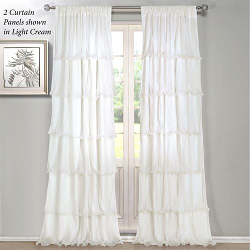Festival Ruffled Curtain Panel 55 x 84