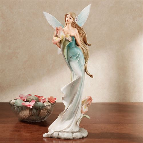 Iris Blossom Fairy Figurine Blue