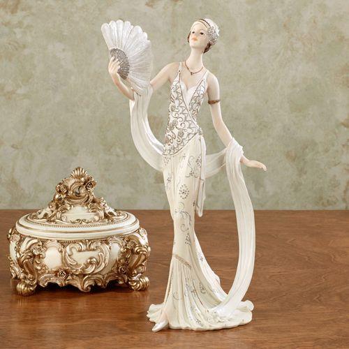 Parisienne Glamour Lady Figurine Ivory