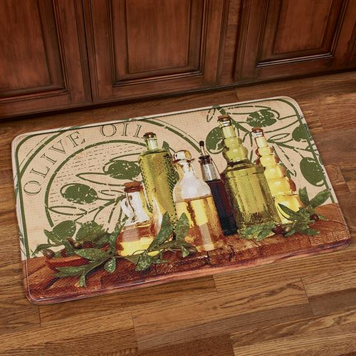 Tuscan Delight Cushioned Rectangle Mat Green 35 x 22
