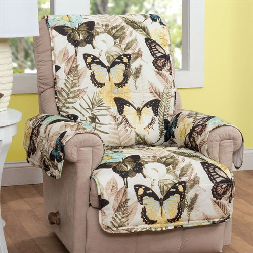 Butterfly Furniture Protector Cover Eggshell Recliner/Wing Chair