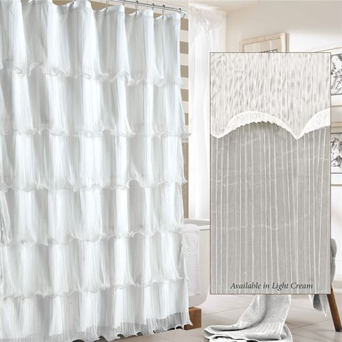 Festival Ruffled Shower Curtain 72 x 72