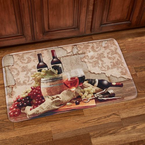 Wine Gathering Cushioned Rectangle Mat Multi Warm 35 x 22