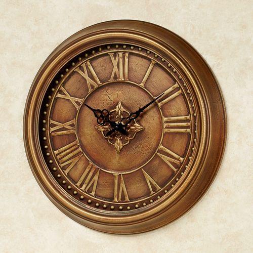 Jamison Wall Clock Antique Copper