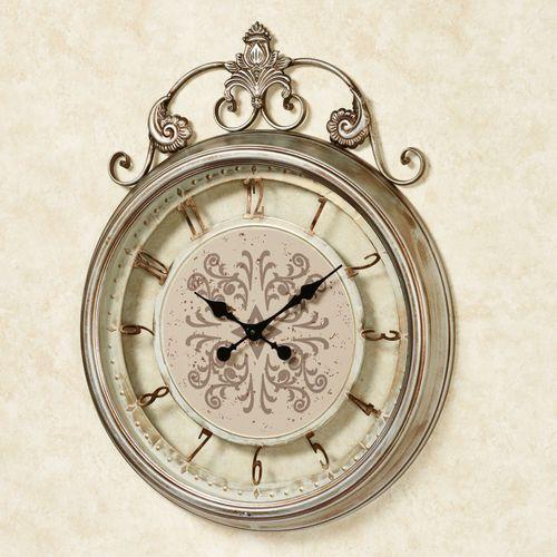 Marguerite Wall Clock Light Bronze