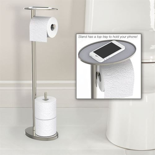 Toilet Paper Stand with Phone Tray