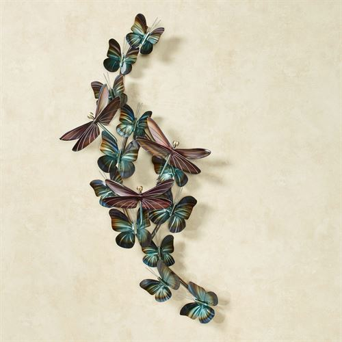 Winged Flight Metal Wall Sculpture Multi Earth Small