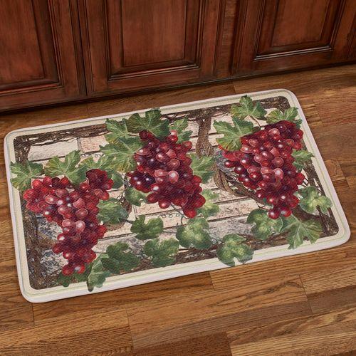 Grape Harvest Memory Foam Cushioned Kitchen Mat
