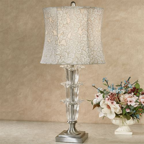 Marilyn Crystal Table Lamp with LED Bulb Ivory/Gold
