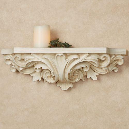 Astrella Wall Shelf Antique White