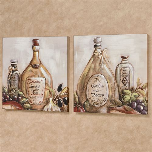 Flavors from Italy Canvas Wall Art Multi Warm Set of Two