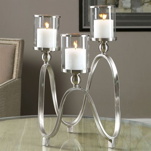 Calculated Curves Candelabra Nickel