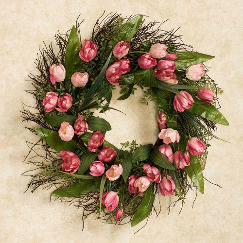Tulip Floral Wreath Multi Pastel
