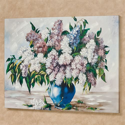 Lilac Splendor Floral Canvas Wall Art Multi Pastel