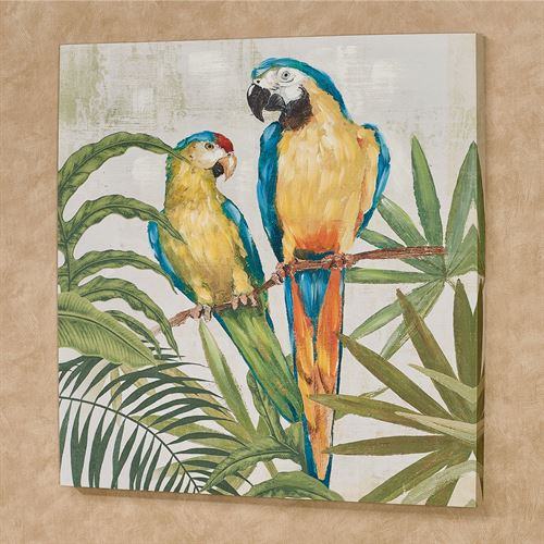 Glamour Girls Parrot Canvas Wall Art Multi Bright