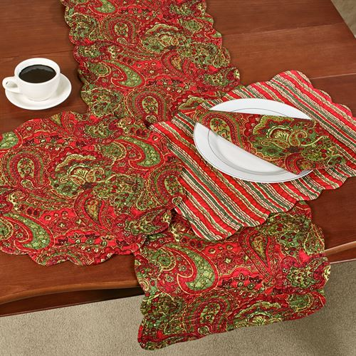 Gloria Table Runner Red 14 x 51