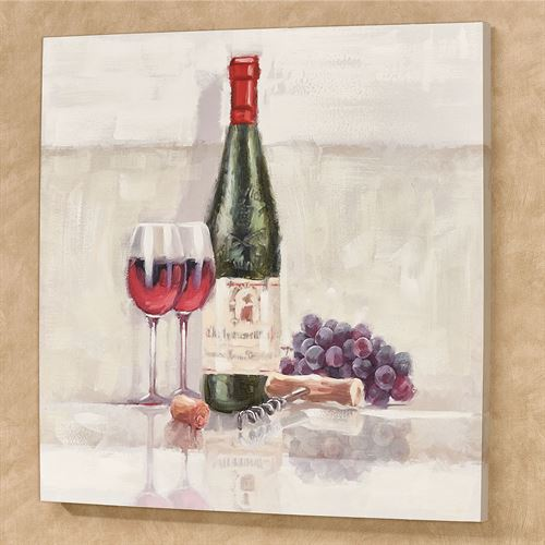 Wine for Two Canvas Wall Art Multi Cool