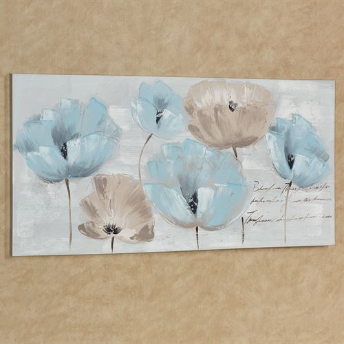 Tranquil Florals Canvas Wall Art Multi Cool