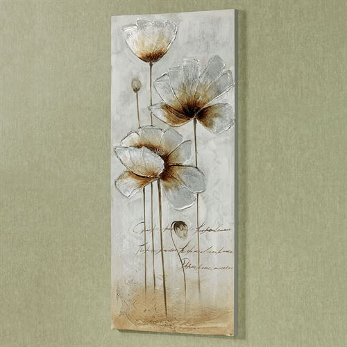 Shimmering Blooms Floral Canvas Wall Art Multi Cool