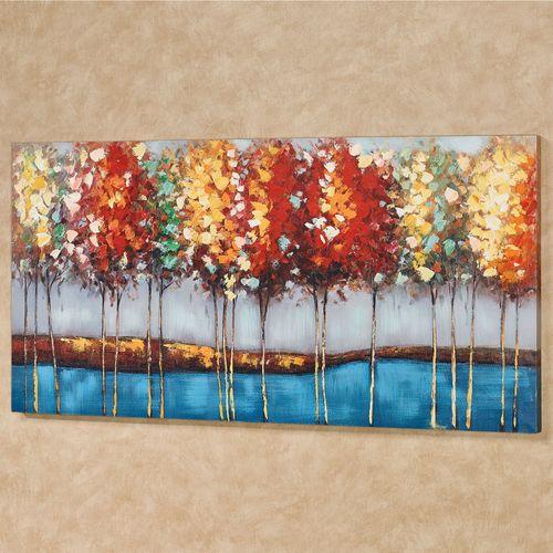 Autumn Riches Canvas Wall Art Multi Warm