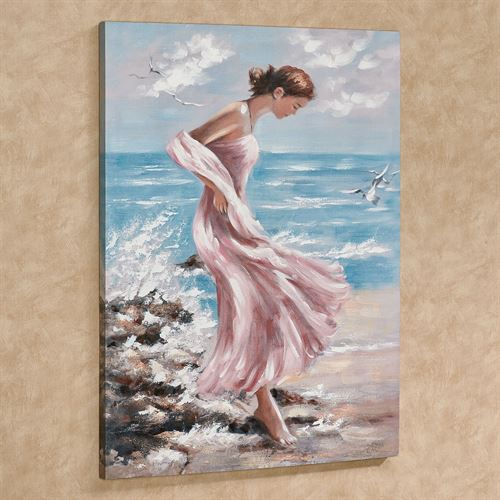 Beach Chic Canvas Wall Art Multi Cool