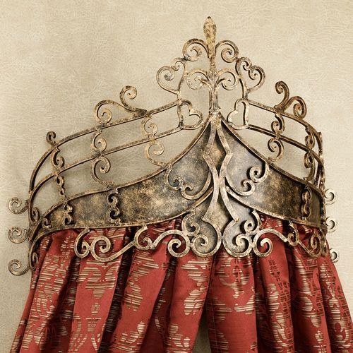 Alexandria Crown Wall Teester Bed Crown