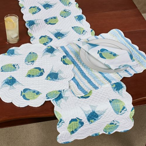 Island Bay Table Runner Multi Cool 14 x 51
