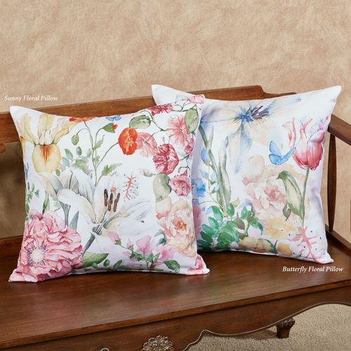 Sunny Floral Decorative Pillow Multi Pastel