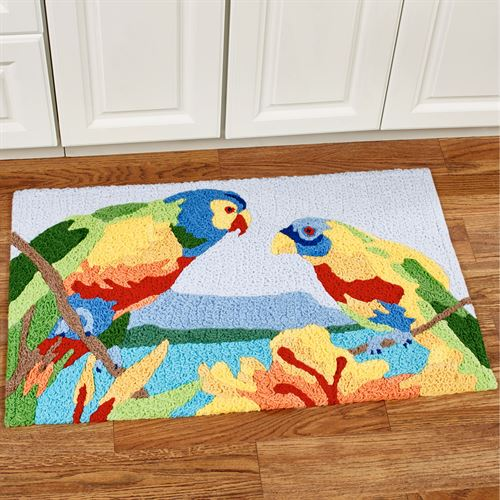 Tropical Parrots Accent Rug Multi Bright 33 X 21
