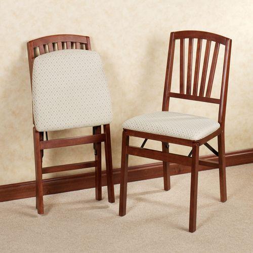 Fan Back Folding Chair Pair  Set of Two