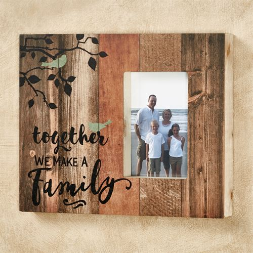 Together We Make a Family Photo Frame Multi Earth