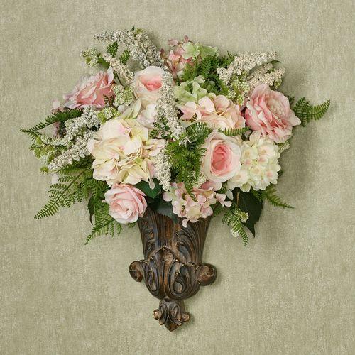 Mila Floral Medley Wall Pocket Pink