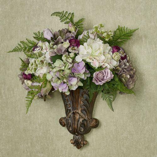 Grace Floral Medley Wall Pocket Purple