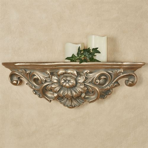 Calissa Wall Shelf Satin Gold