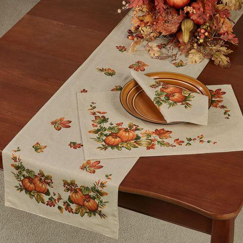Harvest Table Runner Natural 14 x 70