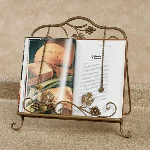 Grapevine Cookbook Holder Satin Gold