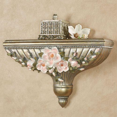 Magnolia Elegance Wall Shelf Champagne Gold