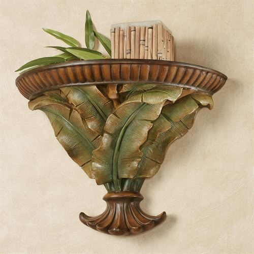 Bamboo Tropics Wall Shelf Green