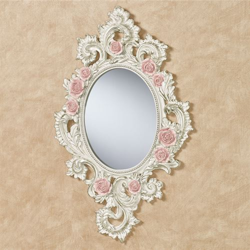 Victorian Rose Wall Mirror Pink