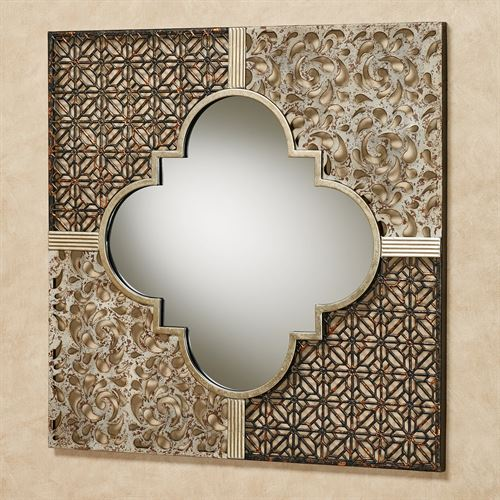 Ashon Mirrored Wall Art Multi Metallic