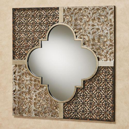 Ashon Mirrored Wall Art Multi Metallic