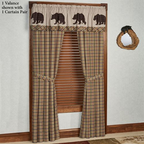 Wyatt Tailored Curtain Pair Multi Earth 80 x 84