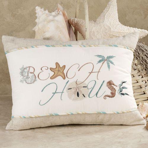 Beach House Tailored Pillow Aqua Blue 12 x 16