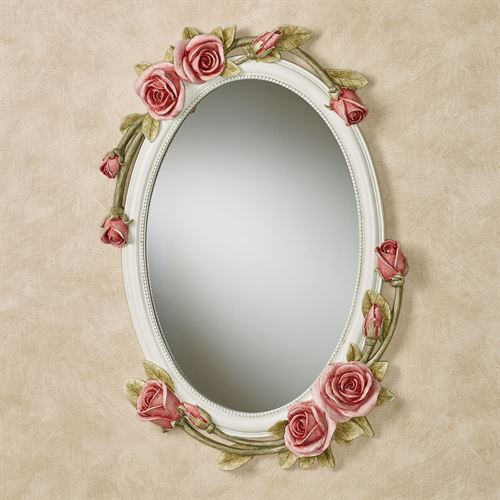 Rose Melody Rose Floral Oval Wall Mirror