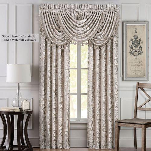 Bel Air Almond Wide Curtain Pair 100 x 84
