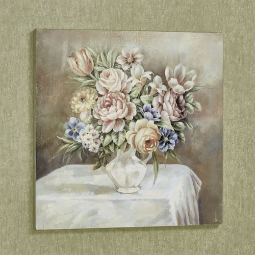 Bouquet of Blooms Canvas Wall Art Multi Pastel