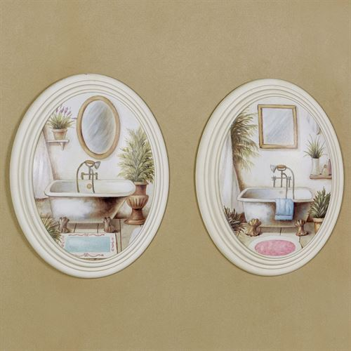 Peaceful Retreat Wall Plaques Multi Cool Set of Two
