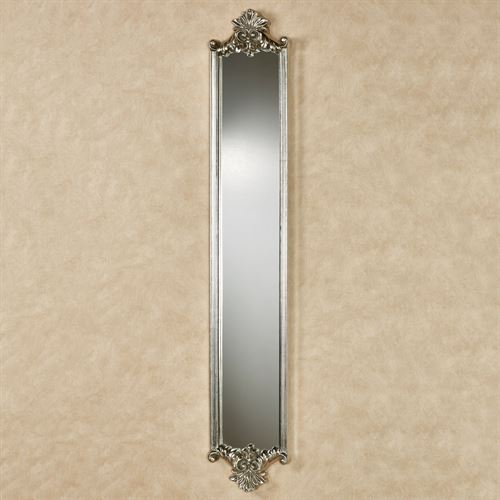 Alistair Wall Mirror Panel Antique Silver